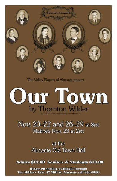 a comparison of people lifestyles and events in the book our town by thornton wilder with our modern Dedicated to preserving and expanding the legacy of thornton wilder, a three time pulitzer prize winner and the only winner for both fiction and drama.
